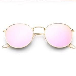 Mirror Round Pink Sunglasses